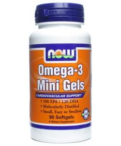NOW Omega-3 Mini Gels (90 капсул, 90 порций)