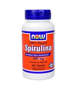 NOW Spirulina 500 mg (180 капсул, 30 порций)