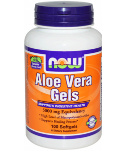NOW Sports Aloe Vera Gels 5000 mg (100 капсул, 33 порции)