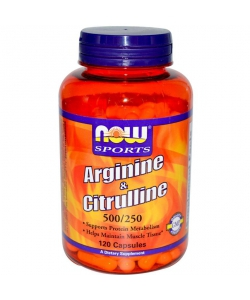 NOW Sports Arginine & Citrulline 500/250 mg (120 капсул)