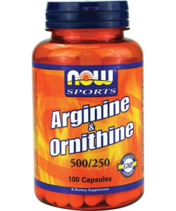 NOW Sports Arginine & Ornithine (100 капсул)