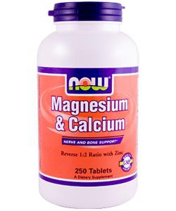 NOW Sports Magnesium & Calcium (250 таблеток, 125 порций)