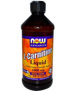NOW Sports L-Carnitine Liquid 1000 mg (473 мл)