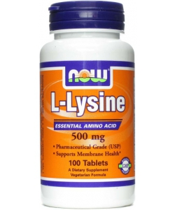 NOW Sports L-Lysine 500 mg (100 таблеток)