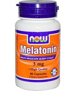 NOW Sports Melatonin 3 mg (60 капсул, 60 порций)