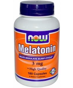NOW Sports Melatonin 3 mg (180 капсул, 180 порций)