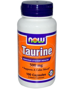 NOW Taurine 500 mg (100 капсул)