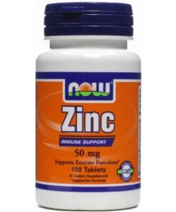 NOW Zinc 50 mg (100 таблеток)