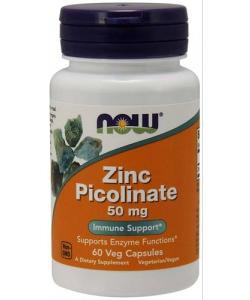 NOW Zinc Picolinate 50 mg (60 капсул, 60 порций)