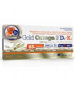 Olimp Sport Nutrition Gold Omega 3 SPORT D3+K2 (30 капсул, 30 порций)