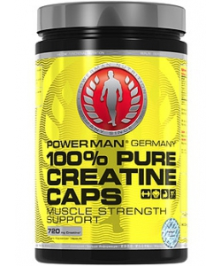 Power Man 100% Pure Creatine Caps (200 капсул, 40 порций)