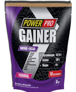 Power Pro Gainer (4000 грамм, 40 порций)