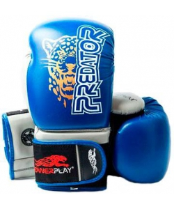PowerPlay Боксерские перчатки  3008 Jaguar Blue