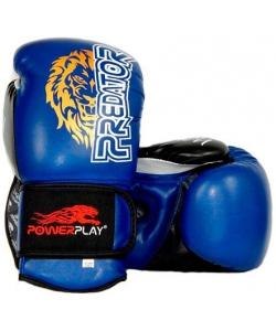 PowerPlay Боксерские перчатки PowerPlay 3006 Lion Blue