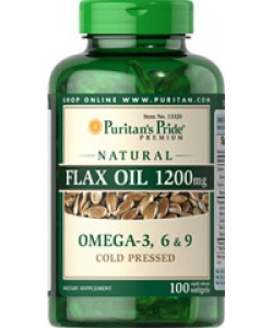 Puritain's Pride Flax Oil 1200 mg Omega-3, 6 & 9 (100 капсул, 100 порций)