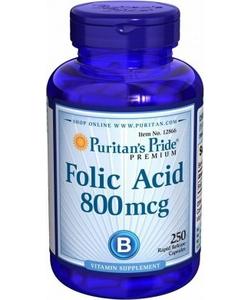Puritan's Pride Folic Acid 800 mcg (250 таблеток, 250 порций)
