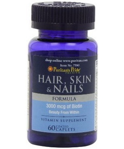 Puritan's Pride Hair, Skin & Nails Formula (60 капсул)