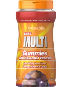 Puritan's Pride Adult Multi Gummies (75 таблеток, 37 порций)