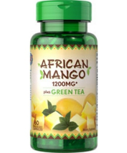 Puritan's Pride African Mango Plus Green Tea (60 капсул, 60 порций)