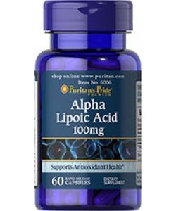 Puritan's Pride Alpha Lipoic Acid 100 mg (60 капсул, 60 порций)
