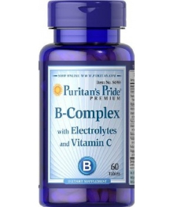 Puritan's Pride B-Complex with Electrolytes and Vitamin C (60 таблеток, 60 порций)