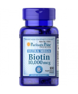 Puritan's Pride Biotin 10,000 mcg (100 капсул, 100 порций)