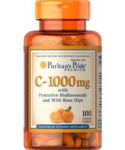 Puritan's Pride C-1000 mg with Protective Bioflavonoids and Wild Rose Hips (100 капсул, 100 порций)