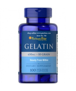 Puritan's Pride Gelatin (100 капсул, 50 порций)