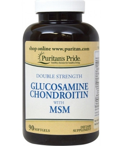 Puritan's Pride Double Strength Glucosamine Chondroitin with MSM (90 капсул, 30 порций)