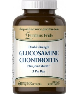 Puritan's Pride Double Strength Glucosamine Chondroitin (60 капсул, 20 порций)