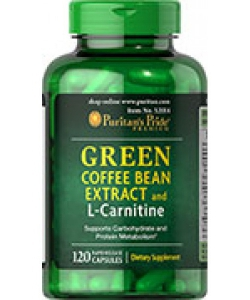 Puritan's Pride Green Coffee Bean Extract and L-Carnitine (120 капсул)