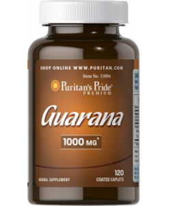 Puritan's Pride Guarana 1000 mg (120 капсул, 120 порций)