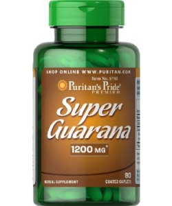 Puritan's Pride Guarana 1200 mg (90 капсул, 90 порций)