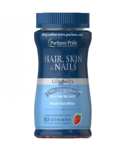 Puritan's Pride Hair, Skin & Nails Gummies (80 таблеток, 40 порций)