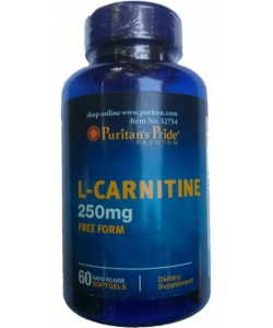 Puritan's Pride L-Carnitine 250 mg (60 капсул, 15 порций)