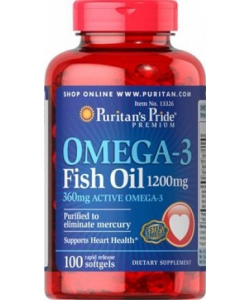 Puritan's Pride Omega-3 Fish Oil 1200 mg (100 капсул)
