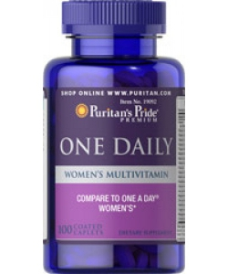 Puritan's Pride ONE DAILY WOMEN'S MULTIVITAMIN (100 капсул, 100 порций)