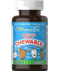 Puritan's Pride Pre-Vites Children's Chewable (100 таблеток, 100 порций)