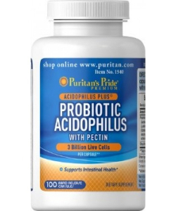 Puritan's Pride Probiotic Acidophilus with Pectin (100 капсул, 100 порций)