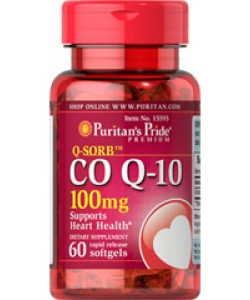 Puritan's Pride Q-SORB Co Q-10 100 mg (60 капсул, 60 порций)