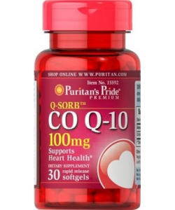 Puritan's Pride Q-Sorb Co Q-10 100 mg (30 капсул)