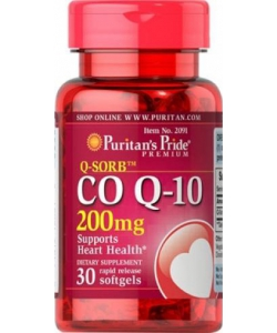 Puritan's Pride Q-Sorb Co Q-10 200 mg (30 капсул)