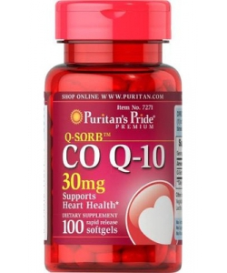 Puritan's Pride Q-Sorb Co Q-10 30 mg (100 капсул)