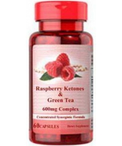Puritan's Pride Raspberry Ketones & Green Tea (60 капсул, 60 порций)