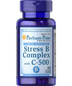 Puritan's Pride Stress B-Complex with C-500 (60 капсул, 60 порций)