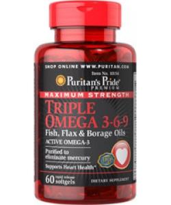 Puritan's Pride Triple Omega 3-6-9 (60 капсул, 20 порций)