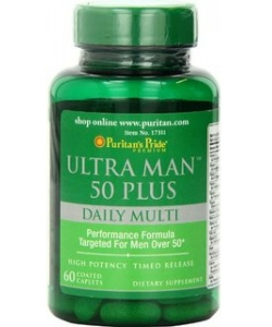 Puritan's Pride Ultra Man 50 Plus (60 капсул, 30 порций)