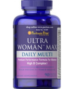 Puritan's Pride Ultra Woman Max Daily Multi (90 капсул)