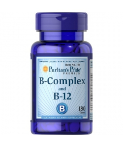 Puritan's Pride Vitamin B-Complex and Vitamin B-12 (180 таблеток, 180 порций)