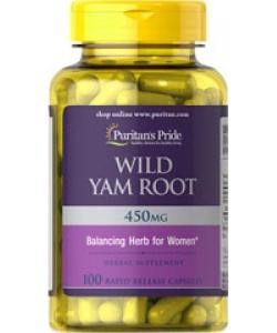 Puritan's Pride Wild Yam Root 450 mg (100 капсул, 50 порций)